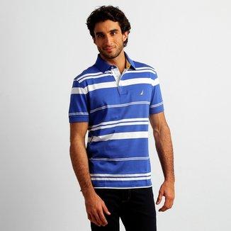 bcdfcec552 Camisa Polo Nautica Listras