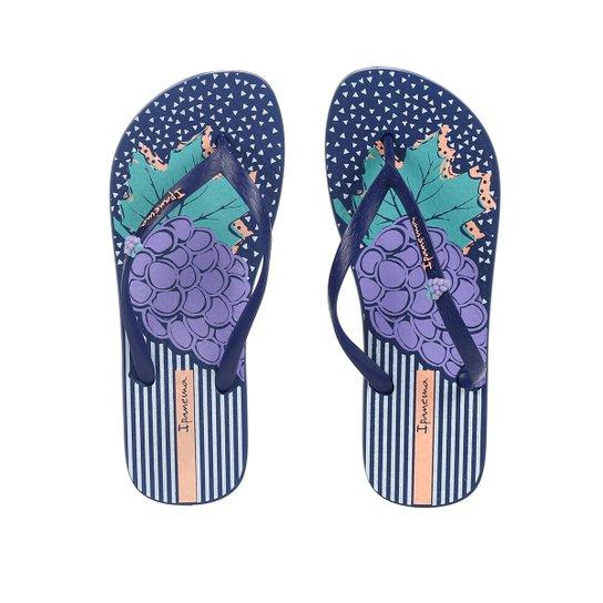 Chinelo Feminino Ipanema Azul marinho - Azul - Compre Agora  6947b322ed272