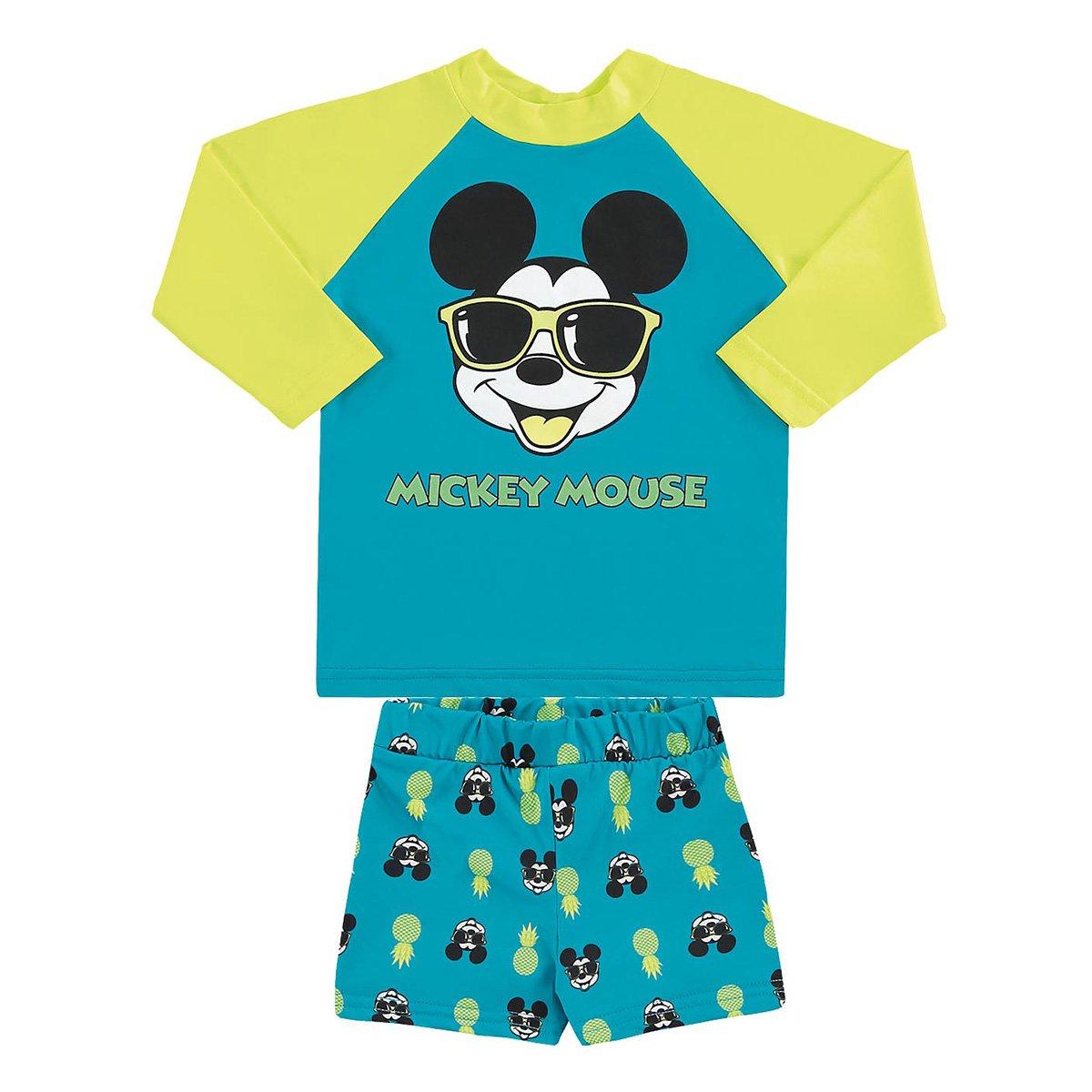 Conjunto Bebê Marlan Proteção UV Disney Mickey Masculino