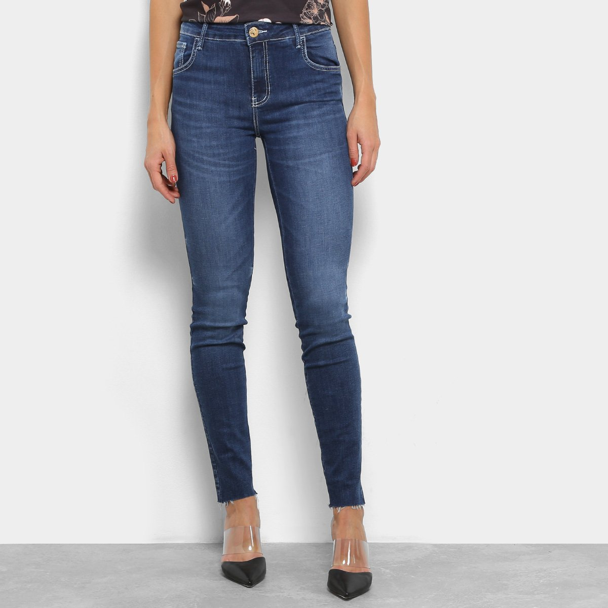 c4daabbc5 Calça Jeans Skinny Coca-Cola Estonada Cintura Alta Feminina