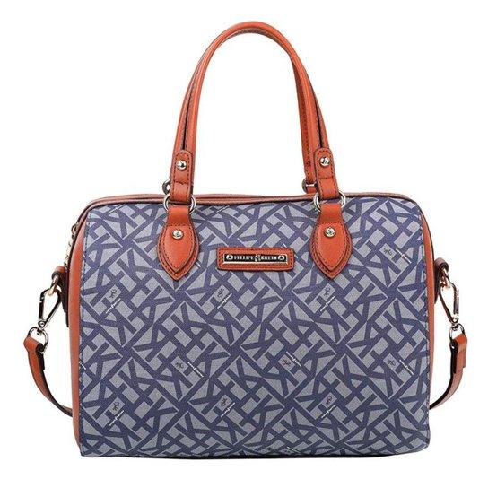 04d282d0c Bolsa de Ombro Fellipe Krein Feminina - Azul - Compre Agora | Zattini