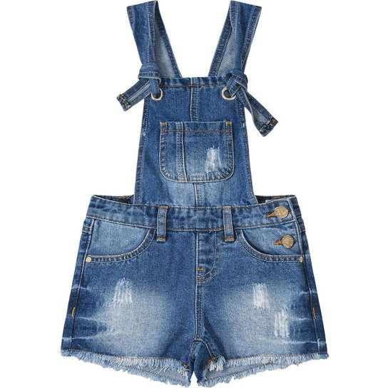 764a70f0a Jardineira Jeans Infantil Marisol Feminina - Compre Agora