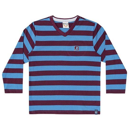 c00620b798 Camiseta Manga Longa Infantil Boca Grande Masculino - Azul
