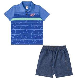 Conjunto Infantil Polo e Bermuda Boca Grande Masculino 8ce93d260262f