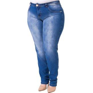 e17f13b04 Calça Confidencial Extra Plus Size Jeans Feminina