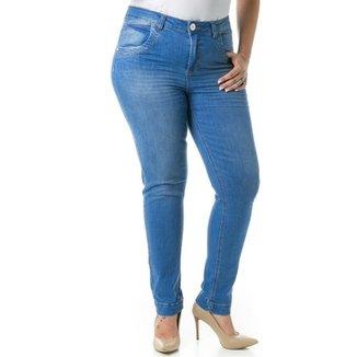 05a659459 Calça Confidencial Extra Plus Size Jeans Tradicional Feminina
