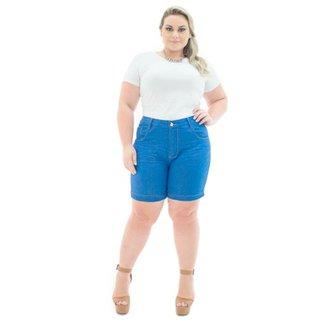 1a0dffa49 Shorts Confidencial Extra Jeans Missy Médio com Lycra Plus Size Feminino