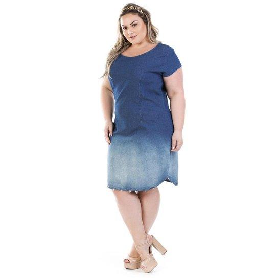 e6de7f458d Vestido Jeans Confidencial Extra Vinil Plus Size Feminino - Compre ...