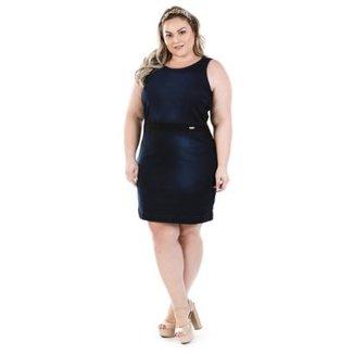 bd757ff9db Vestido Jeans Regata Luck com Elastano Plus Size