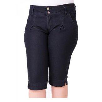 4cf2baaa6 Bermuda Jeans Maria João com Elastano Plus Size Feminino