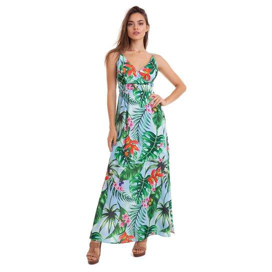 e8e40586b Vestido Kinara Crepe longo Feminino - Compre Agora