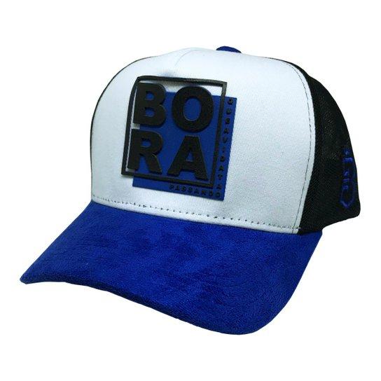 Boné Bora Trucker Quadrado - Azul - Compre Agora  2e3a5d4b267