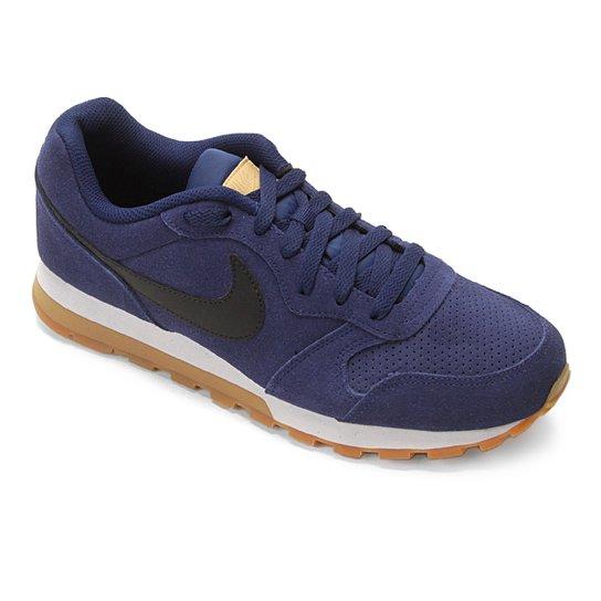 6821faf30ea Tênis Nike Md Runner 2 Suede Masculino - Azul e Preto - Compre Agora ...