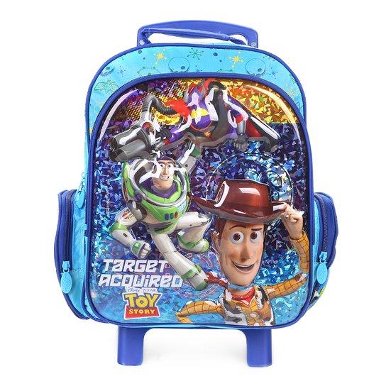 Mochila de Rodinhas Infantil Dermiwil Toy Story Escolar Masculina - Azul d9d1e269ae1