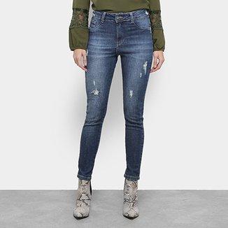 c1ead12cb Calça Jeans Razon Cigarrete Puídos Feminina