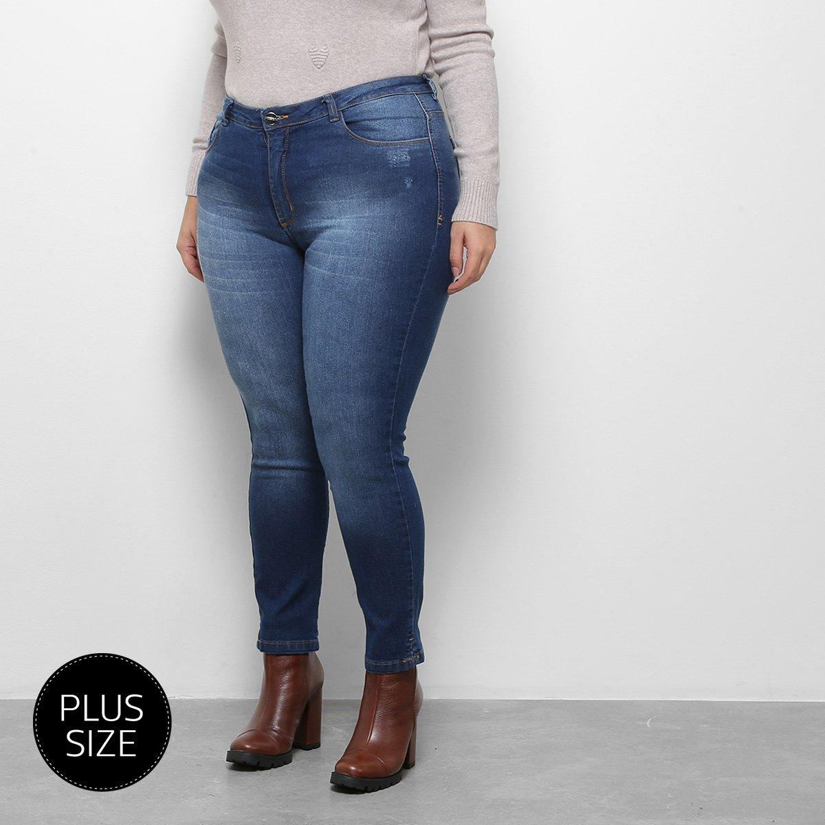 f35954373 Calça Jeans Razon Cigarrete Plus Size Feminina