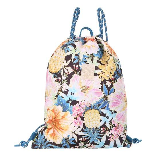 4852aea69 Bolsa Saco Estampada Maxi Floral Farm Feminina | Zattini