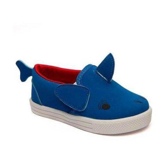 Slip On Infantil Pesh Tubarão Masculino - Azul - Compre Agora  eb4e7259061