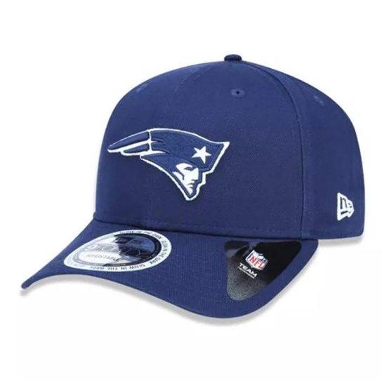 Boné New Era Aba Curva New England Patriots Neon In The Dark - Azul bd8e95bea81