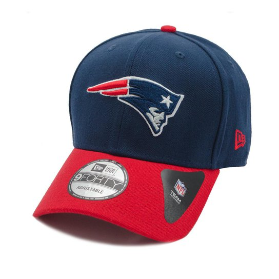 Boné New Era Aba Curva New England Patriots Team Color - Nfl - Azul 8c924de2b9c2e