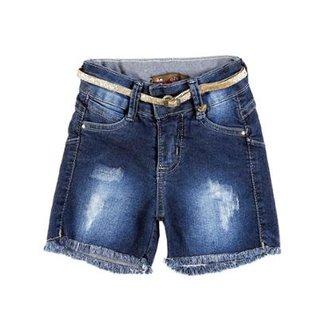86e7cd7c6 Short Jeans Infantil Ozne'S Feminino