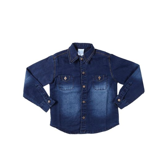 70f172c70a Camisa Jeans Manga Longa Infantil Petit Kid Masculina - Compre Agora ...