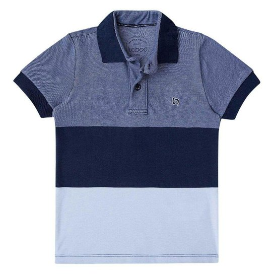 Camisa Polo Infantil Luc Boo Listras Masculina - Azul - Compre Agora ... 5c0eae22cf