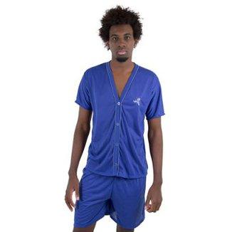 6728919e5 Pijama Linha Noite de Botão Masculino