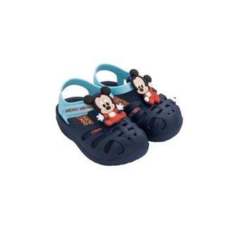 2eedb4b9a Sandália Infantil Disney Clássicos Mickey Grendene Masculina