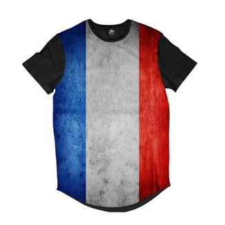 5b65930dfa Camiseta Longline BSC Bandeira França Masculina