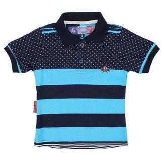 2d5db06b2c Camisa Polo Infantil Rodeo Western Listrada Masculina