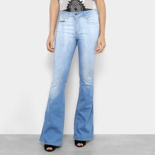 f3a231687 Calça Jeans Flare My Favorite Thing (s) High Cintura Média Feminina - Azul  Claro