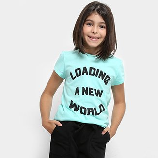 65e4cc999a Camiseta Infantil Dimy Candy Dress T-shirt New World Feminina