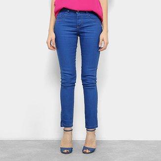 Calça Jeans Skinny Chocomenta Cintura Média Feminina 3e10f936a992a