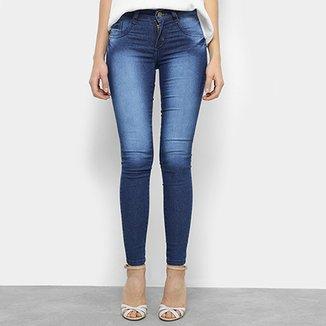 17b28bcda2 Calça Jeans Skinny Chocomenta Estonada Cintura Baixa Feminina