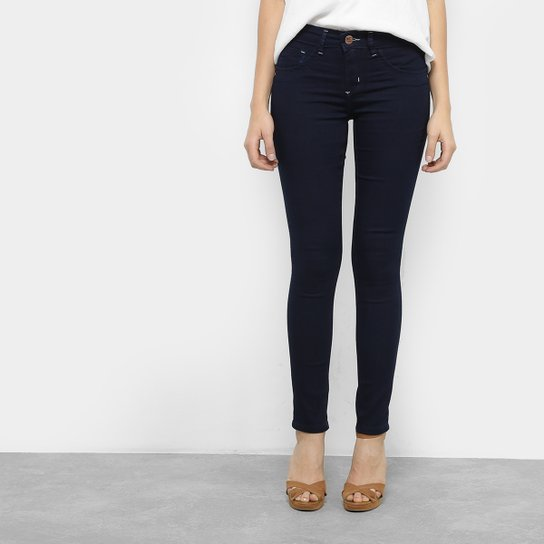 15a2261d0e Calça Jeans Skinny Chocomenta Pespontos Cintura Média Feminina - Azul
