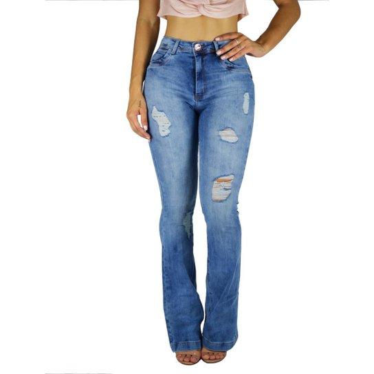 018bb191e Calça Flare Sol Jeans Hot Pants Levanta Bumbum 618 | Zattini