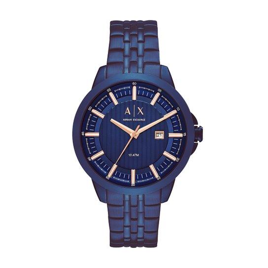 432973bea9d Relógio Armani Exchange Analógico AX22684AN Masculino - Azul ...