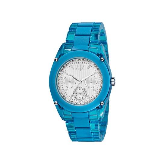ec58099b87d Relógio Armani Exchange Feminino Azul - UAX5038 N UAX5038 N - Compre ...