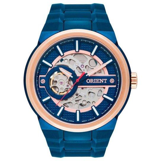 aa8eb5abc75 Relógio Masculino Orient Automático Nh7br001 D1dx - Azul - Compre ...