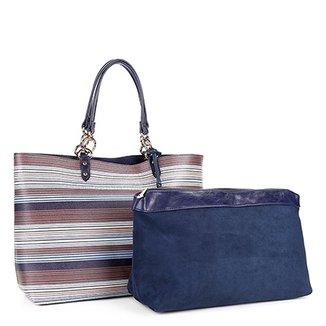 12470a652 Bolsa Shopper Listrada WJ com Nécessaire Feminina