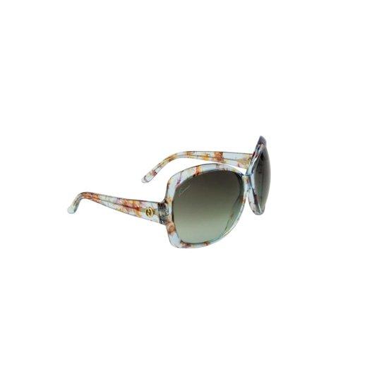 Óculos de Sol Gucci 100% Proteção U.V. Ópticas Melani Feminino - Azul b47bfd76e6