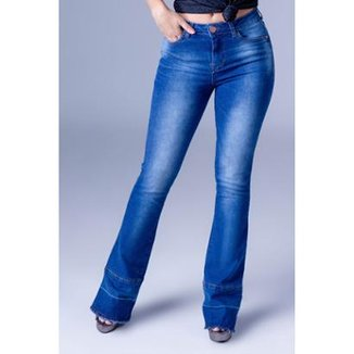 c1f03df623 Calça Jeans Boot Cut Equivoco Loren Feminina