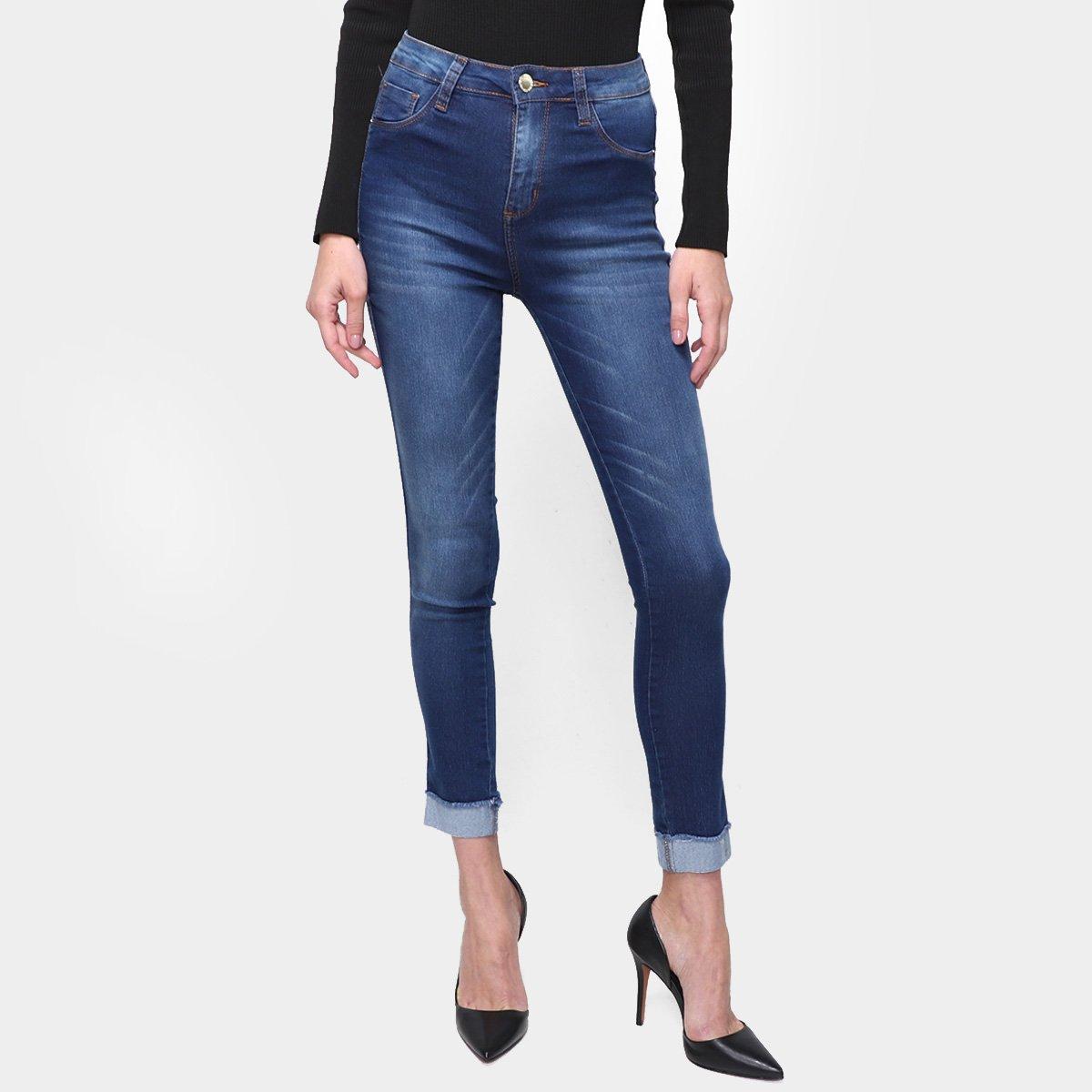 Calça Jeans Ecxo Skinny Lavagem Média Feminina