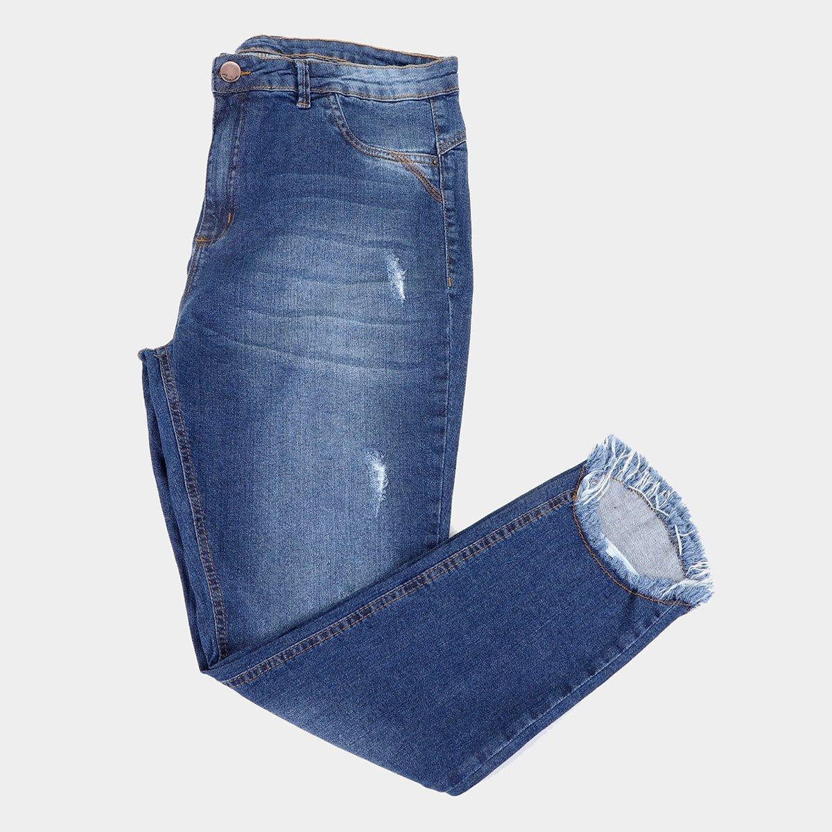 Calça Jeans Skinny Plus Size Exco Cintura Média Feminina