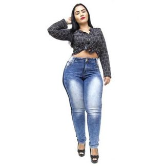 fa69371d3 Calça Jeans Credencial Plus Size Skinny Vanecy Feminina
