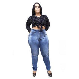 549b2d23befb9 Calça Jeans Latitude Plus Size Lemiris Feminina