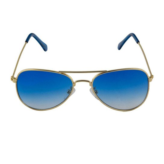 Óculos de Sol Khatto Infantil Aviador Station Feminino - Azul ... 4f1b083f27