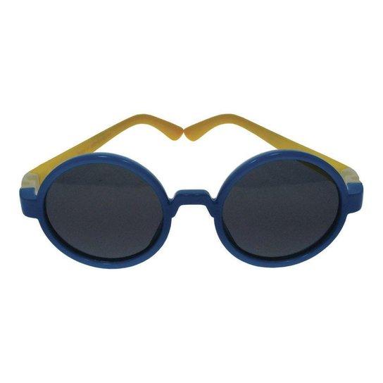 f7d47ace4eca1 Óculos de Sol Khatto Baby Round Kids Masculino - Azul - Compre Agora ...