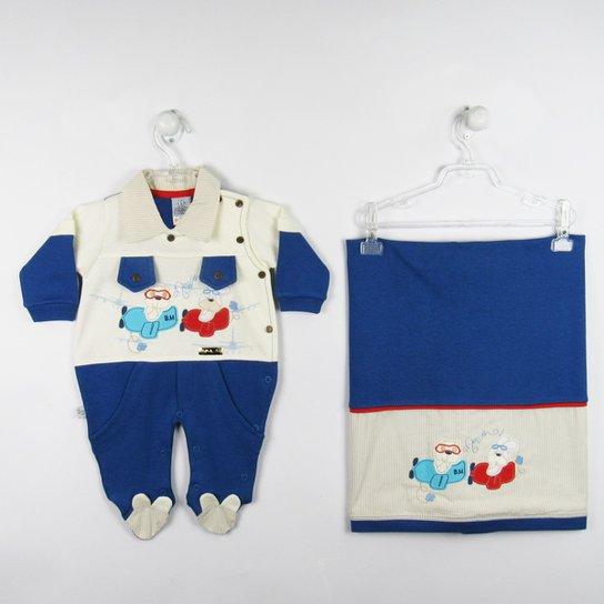 c526cdfe6f Saida de Maternidade Suedine - Azul - Compre Agora